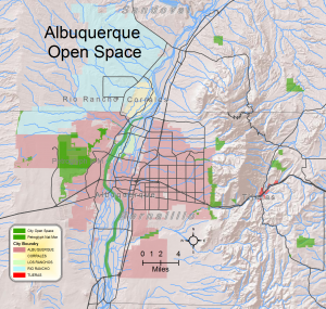 Map of Albuquerque Open Space Lands